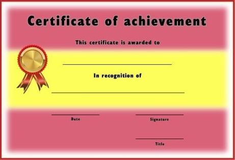 certificate of achievement template 17