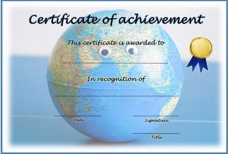 certificate of achievement template 18