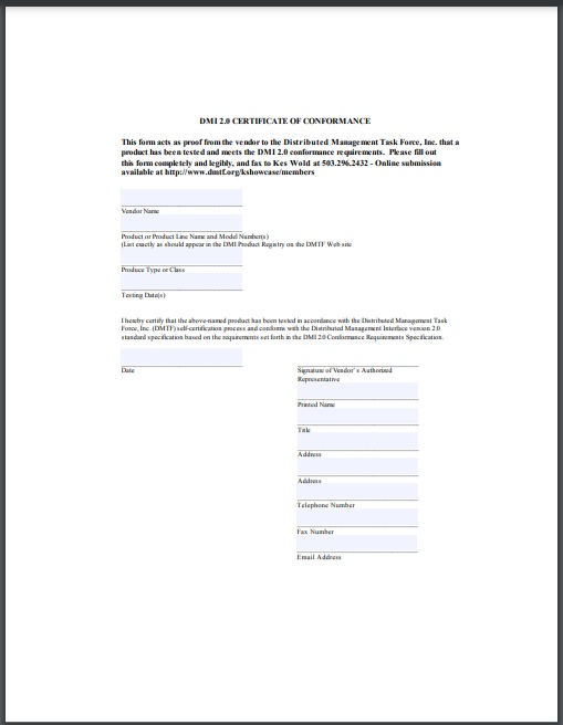 certificate of conformity Template 09