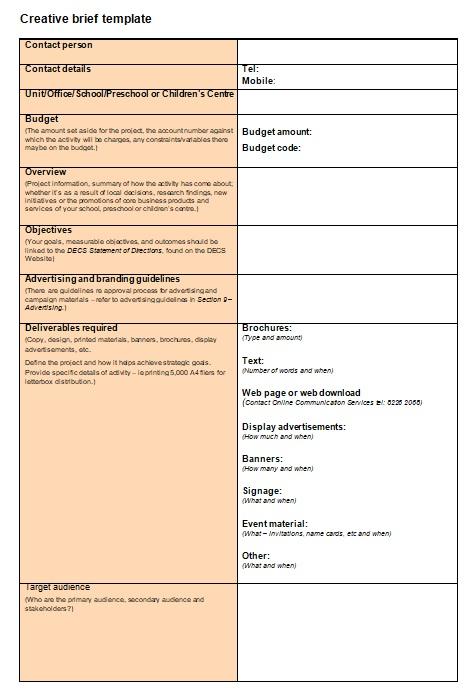 creative brief template 13