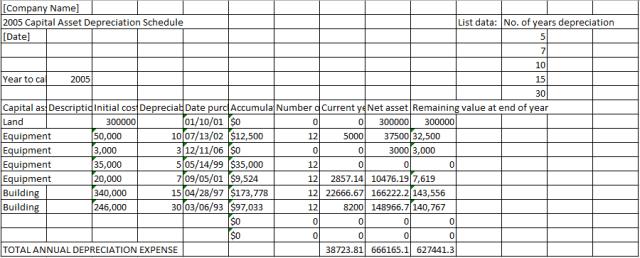 depreciation schedule template 03