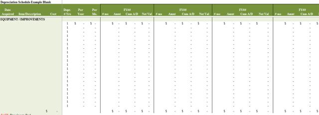 depreciation schedule template 05