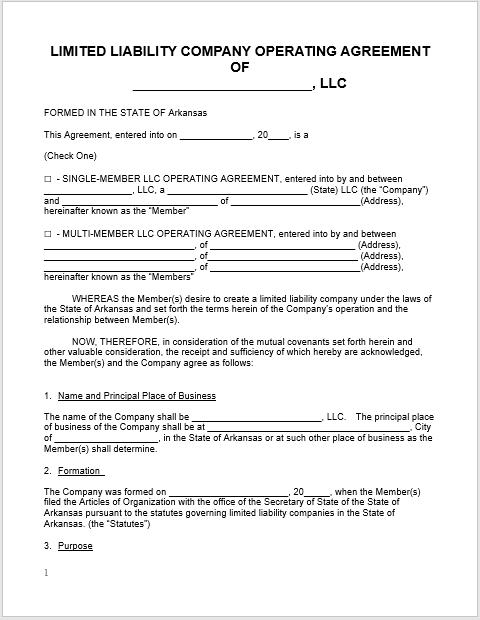 llc operating agreement template 12