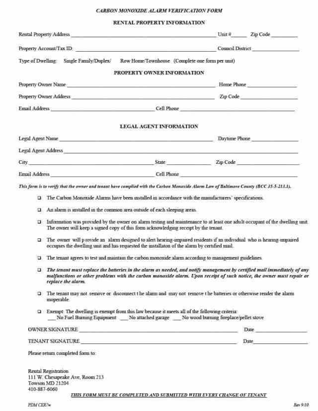 rental verification form 13