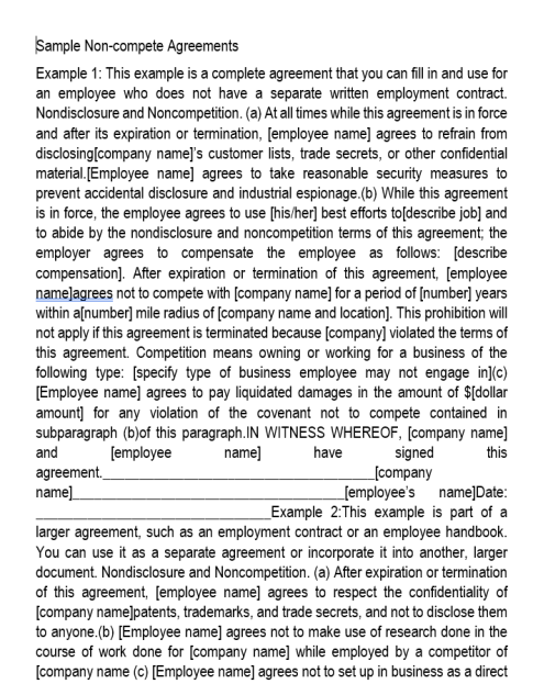 Non-Compete Agreement Template 03