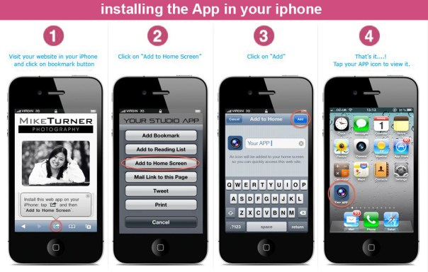 how to install our mobile App in your iphone