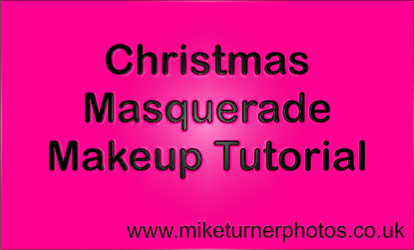 christmas masquerade makeup tutorial
