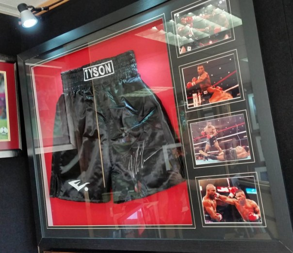 Mike Turner Photography: Mike Tyson shorts signed