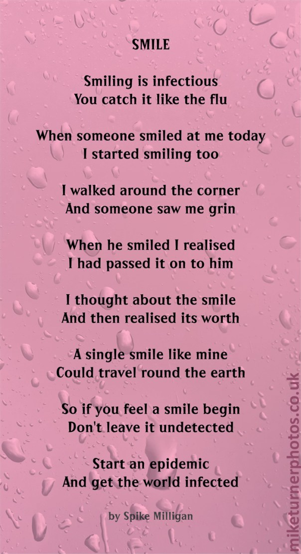 smile poem by spike milligan