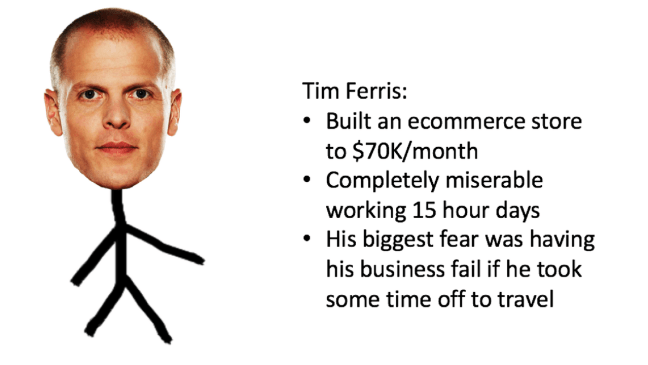 Tim Ferris Fear of failure