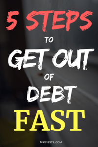 Find out the 5 steps on how to get out of debt fast.