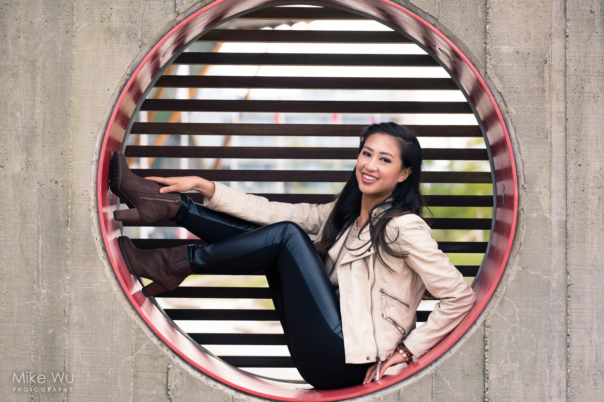 circle, fashion, vancouver, richmond, oval, smile, asian, photoshoot, portrait, fun