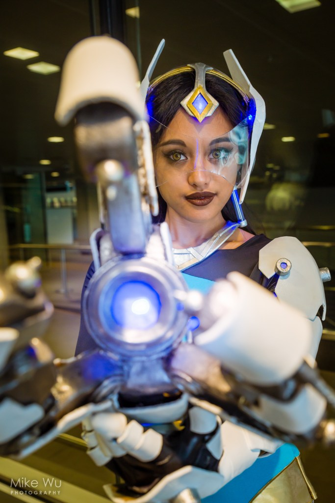 cosplay, symmetra, league of legends, game, computer, futuristic, gun, character