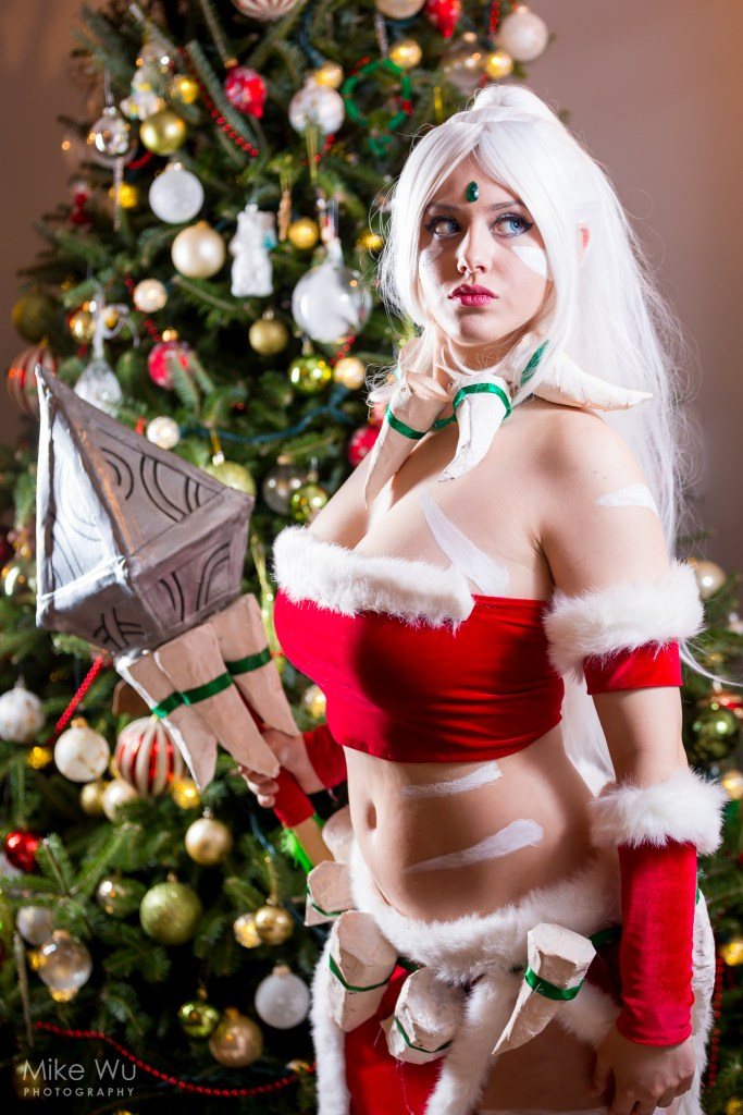 cosplay, league of legends, christmas, skin, game, computer, tree, ornaments