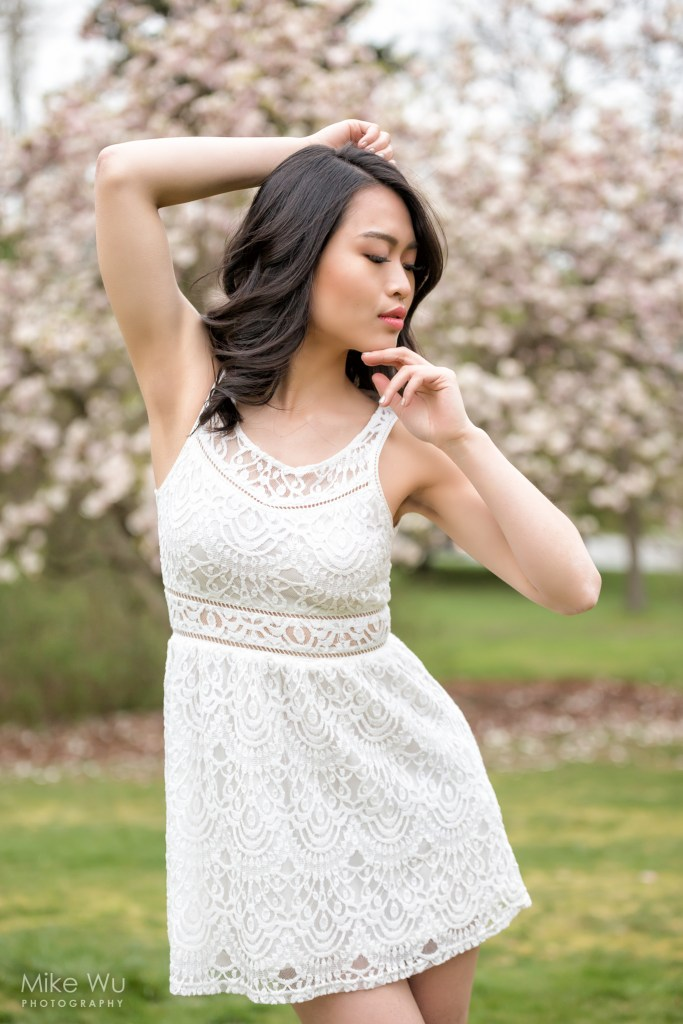 Shooting with cherry blossoms in Vancouver. Model Joanne Zhou