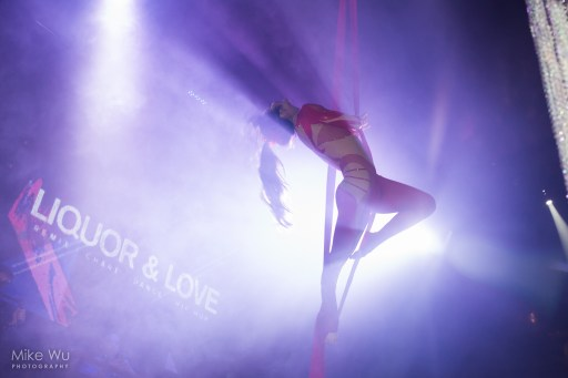 club, event, aerial, performer, graceful, silhouette, movement, ceiling, air, remix, hip hop, vancouver, show, performance