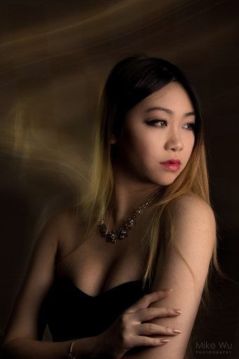 model, glamour, beauty, dark, jewelry, black dress, asian, girl, shine, mood