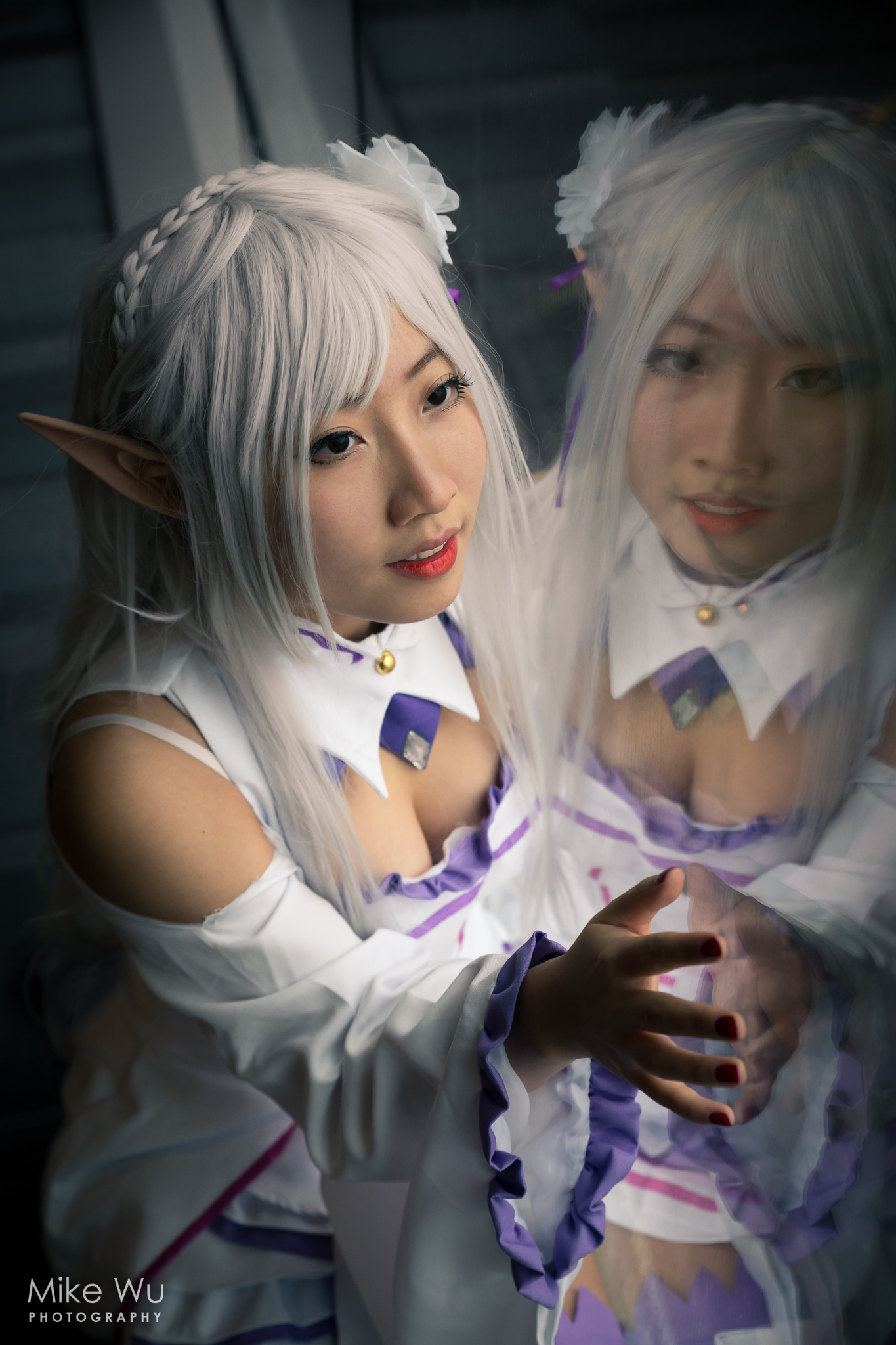 cosplay, emilia, half elf, character, starting life in another world, princess, anime, game, magic
