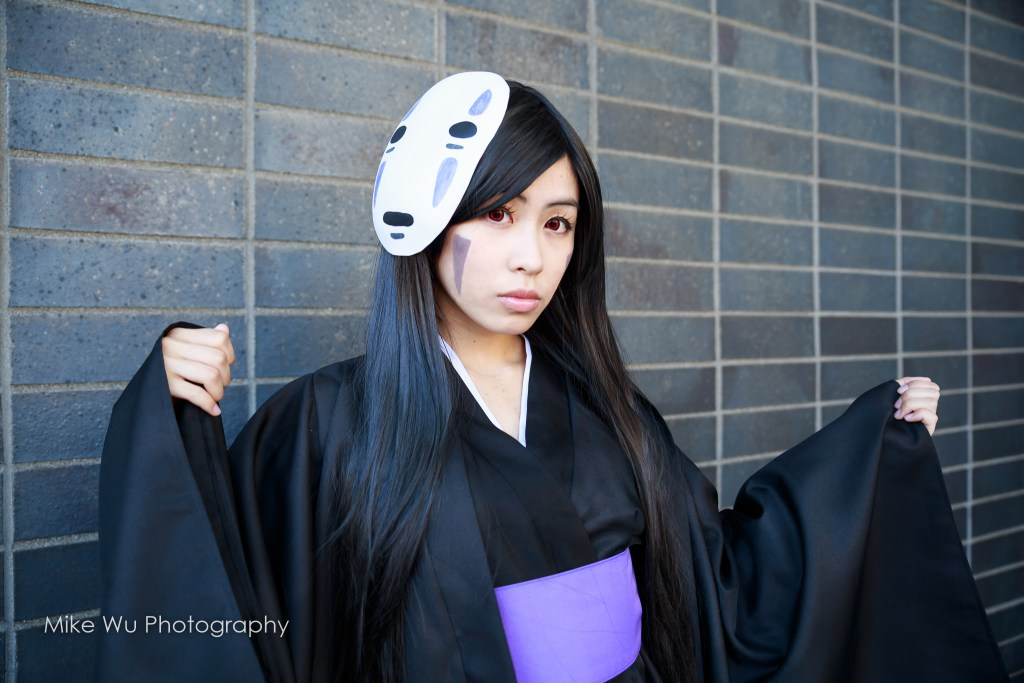 cosplay, spirited away, no face, studio ghibli, spirit, mask, black, asian, animated, miyazaki