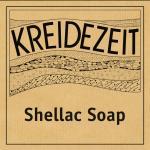 Kreidezeit Shellac Soap label