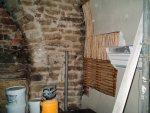 Dobcross Church repair. Riven chestnut lath in situ