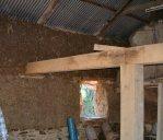 Devon Cob barn with new wall
