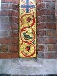 Greek church traditional mosaic close up