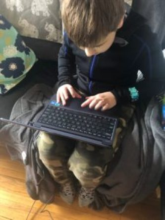 Laptops help kids with connection