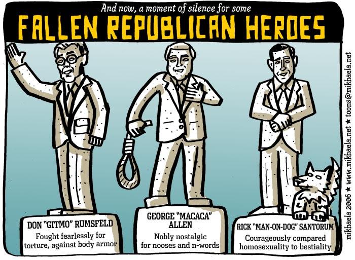 Bush administration loses elections; cartoon