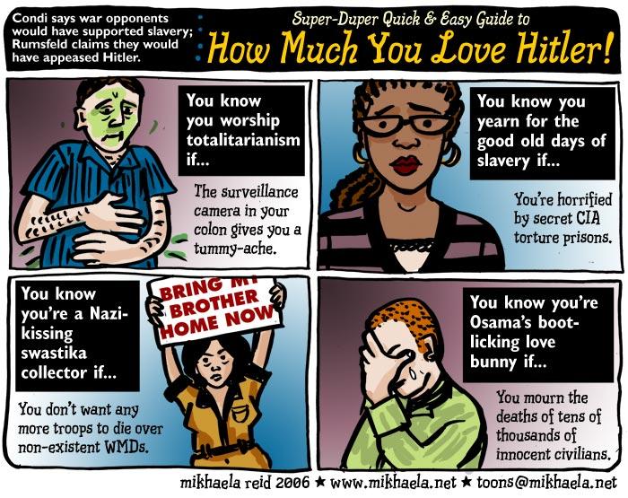 Iraq war propaganda; cartoon