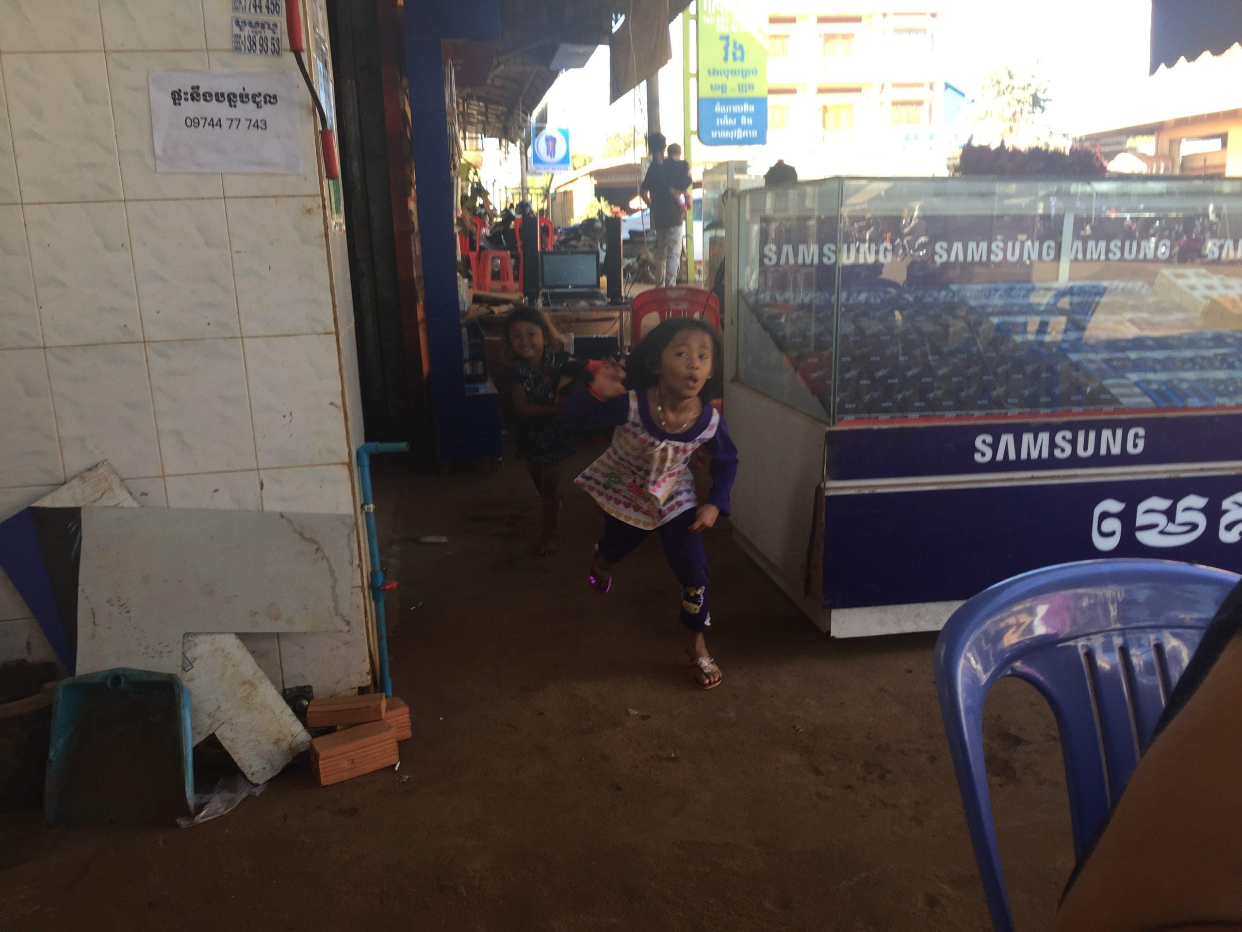 Na jídle v Kambodži