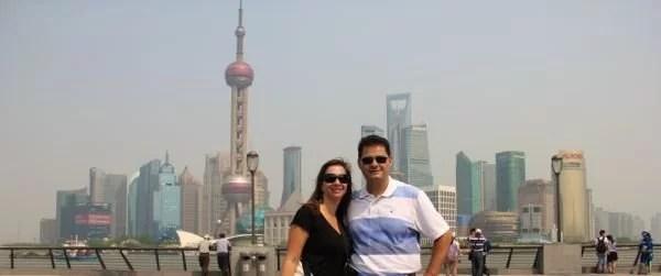 Vista Pudong em Xangai