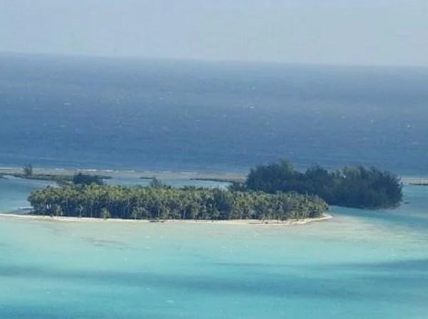 Vista aerea da Polinesia Francesa
