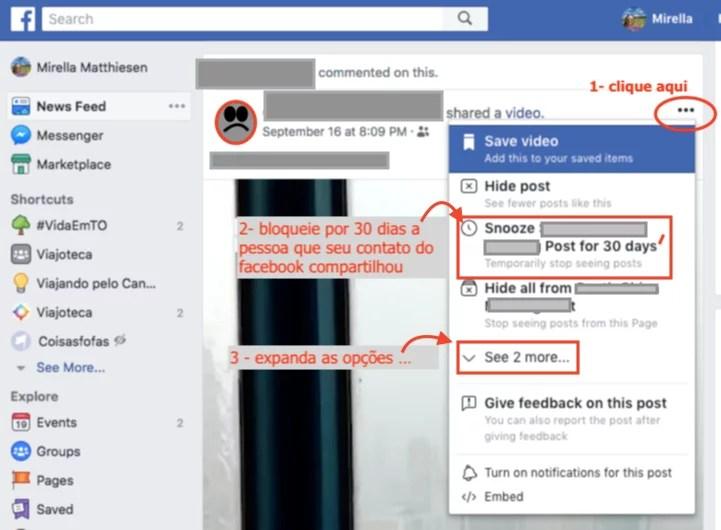 Como bloquear amigo no facebook por 30 dias!