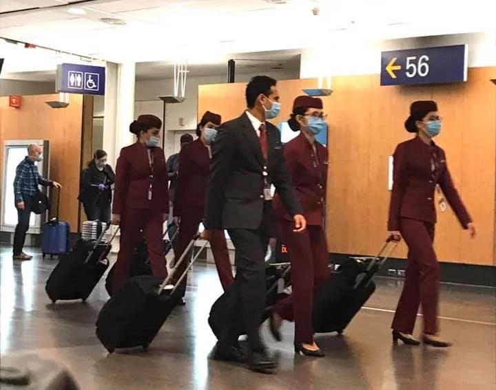 Voo Qatar airways - coronavirus
