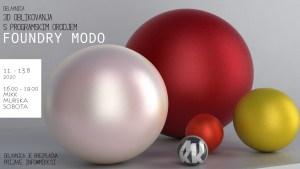 Delavnica 3D oblikovanja s programom Foundry Modo