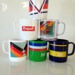Mugs printed with logos