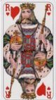 Carta Mundi Versailles Tarot King of Hearts