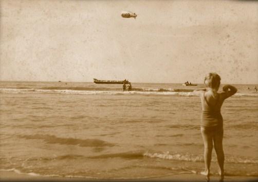 Viral reklame anno 1950. Zeppelinere med Miko logoer svæver over Europas kyster.