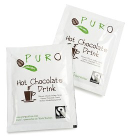 Breve med Puro Fairtrade Belgian Hot Chocolate