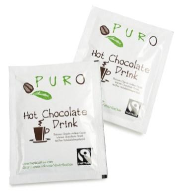 Breve med Puro Fairtrade Belgian Hot Chocolate