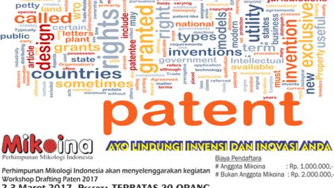 Workshop Drafting Paten 2017