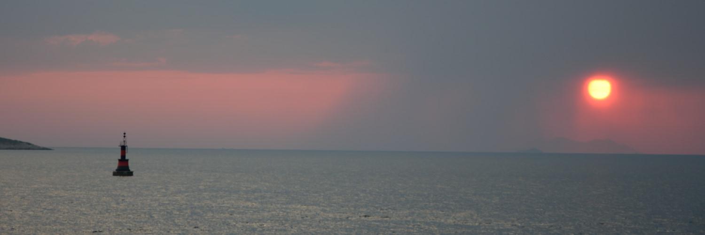 Zachód słońca w Cavtat, Chorwacja