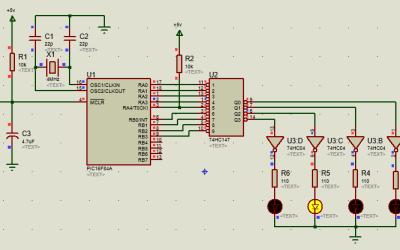 PIC16 control de un decodificador 74HC147