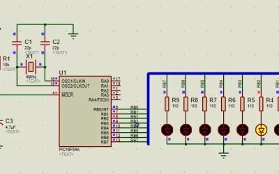 PIC16 activación secuencial de leds