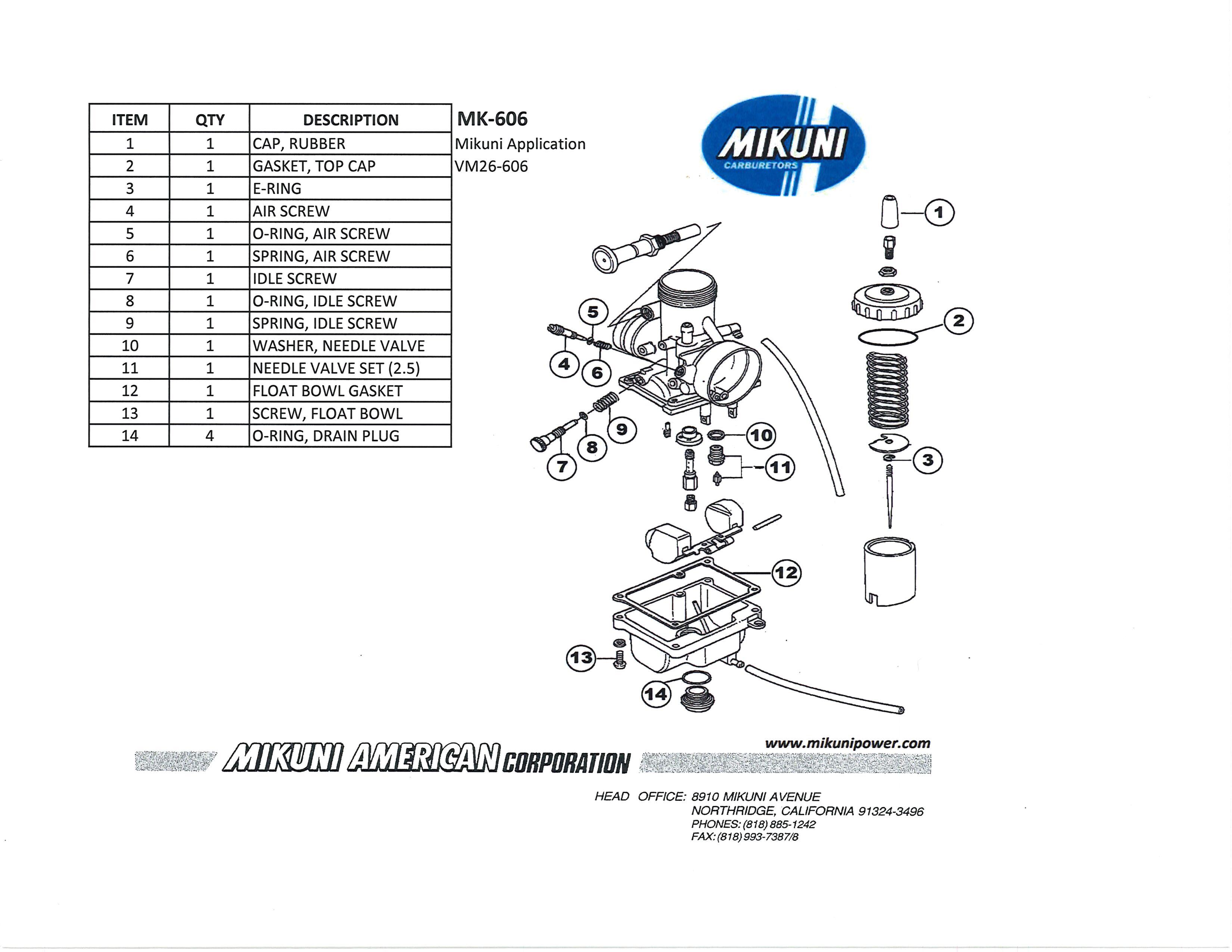 Mikuni Carburetor Diagram
