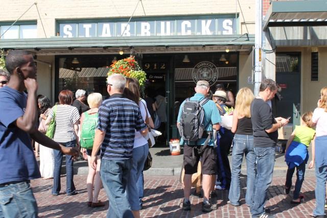 Fachada da Starbucks - Pike Place Market
