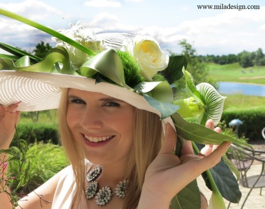 CREATING FRESH FLOWER HAT DECOR