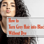 How to turn grey hair into black