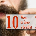 how to grow a beard at 16